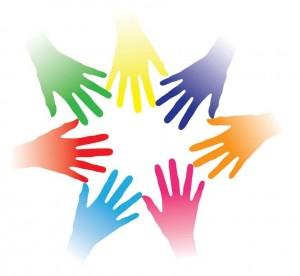 Logo med hænder